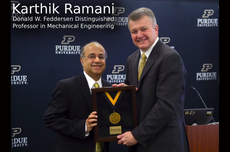 Professor Karthik Ramani Ratified as Donald W. Feddersen Distinguished Professor