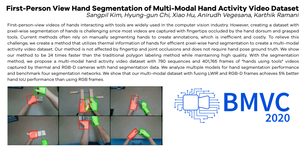 First-Person View Hand Segmentation of Multi-Modal Hand Activity Video Dataset