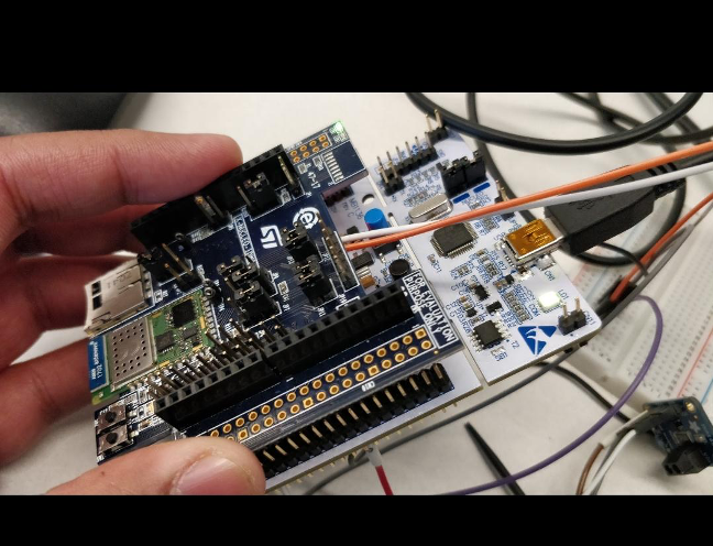 STM32F401RE with BLE extension board