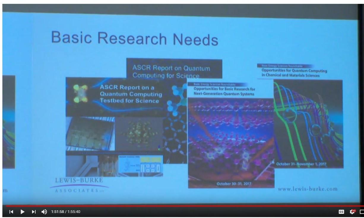 Artificial Intelligence & Quantum Information Science Workshop photo