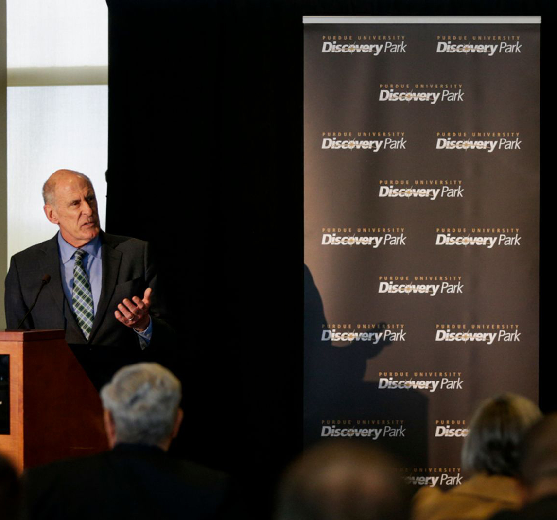 Director of Intelligence Dan Coats at Purdue's Symposium on Ethics, Technology, and the Future of War and Security photo
