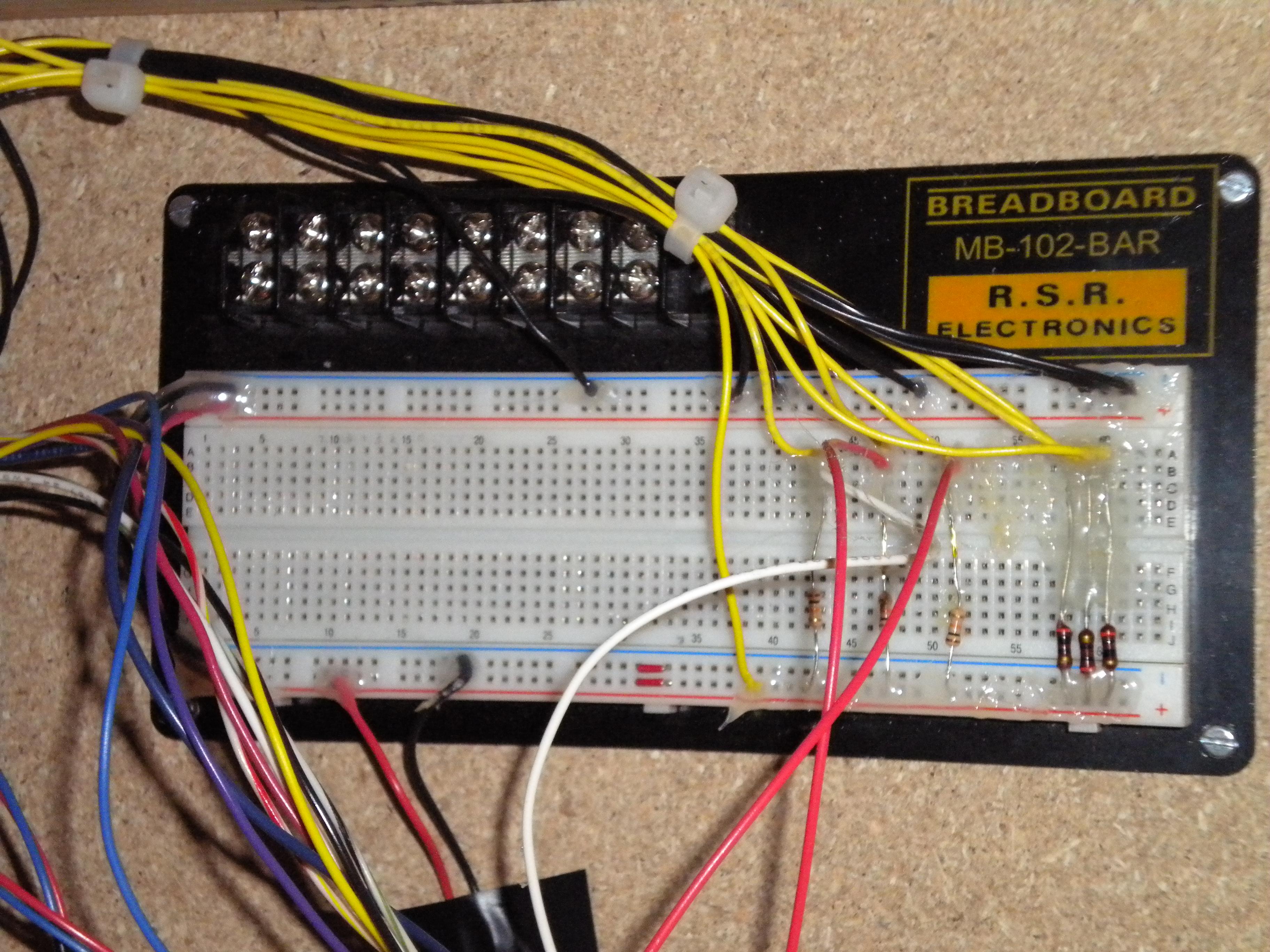 Jon Schwarzs Lab Notebook 5v 10a Regulator Circuit Switchingregulatorcircuit Power Figure 42820105 Breadboard With Ir Transmitter Reciever Right And Pushbutton Center Interfaces