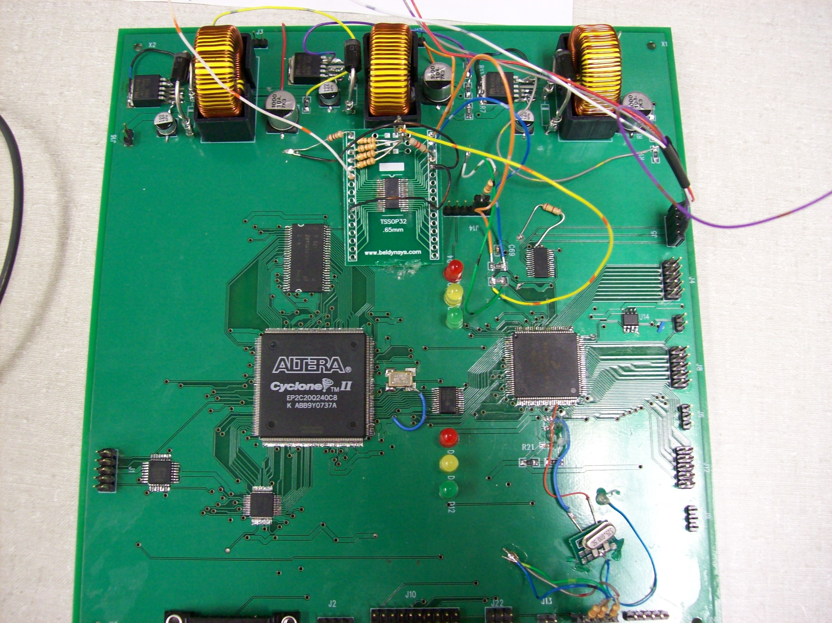 Josh Longs Lab Notebook Electronics Mini Projects Circuit Then Connected The Pcb To Large We Were Unable Communicate Both Led Drivers At Same Time Though When Tried Test Out New