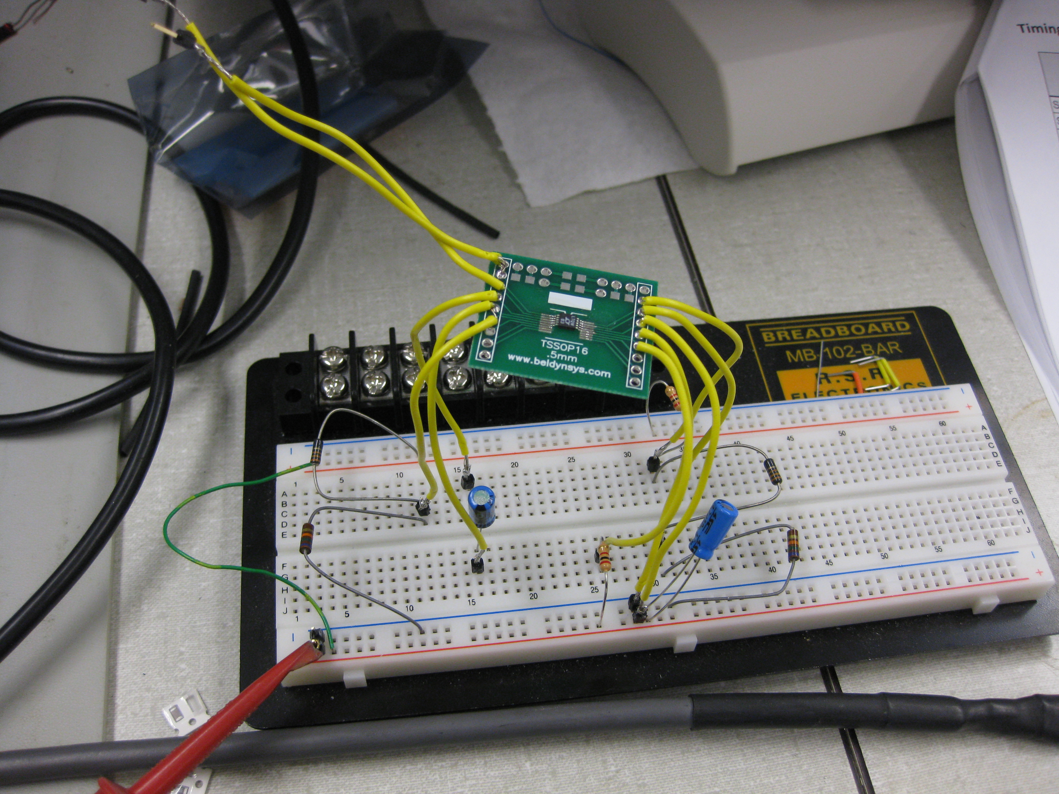 Kelli Hackers Lab Notebook Project 61 Breadboarded High Pass Filter Charge Counter Test Circuit
