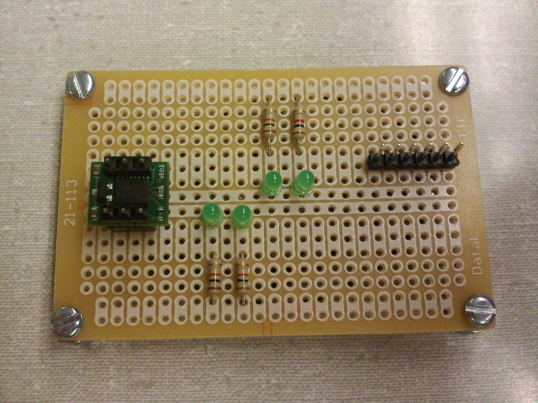 Anthony Myerss Lab Notebook The Breadboard Circuit Of Above Is Shown Below Interfacing With Microcontroller Will Be Tested At A Later Date Detailed Pictures Boards Are