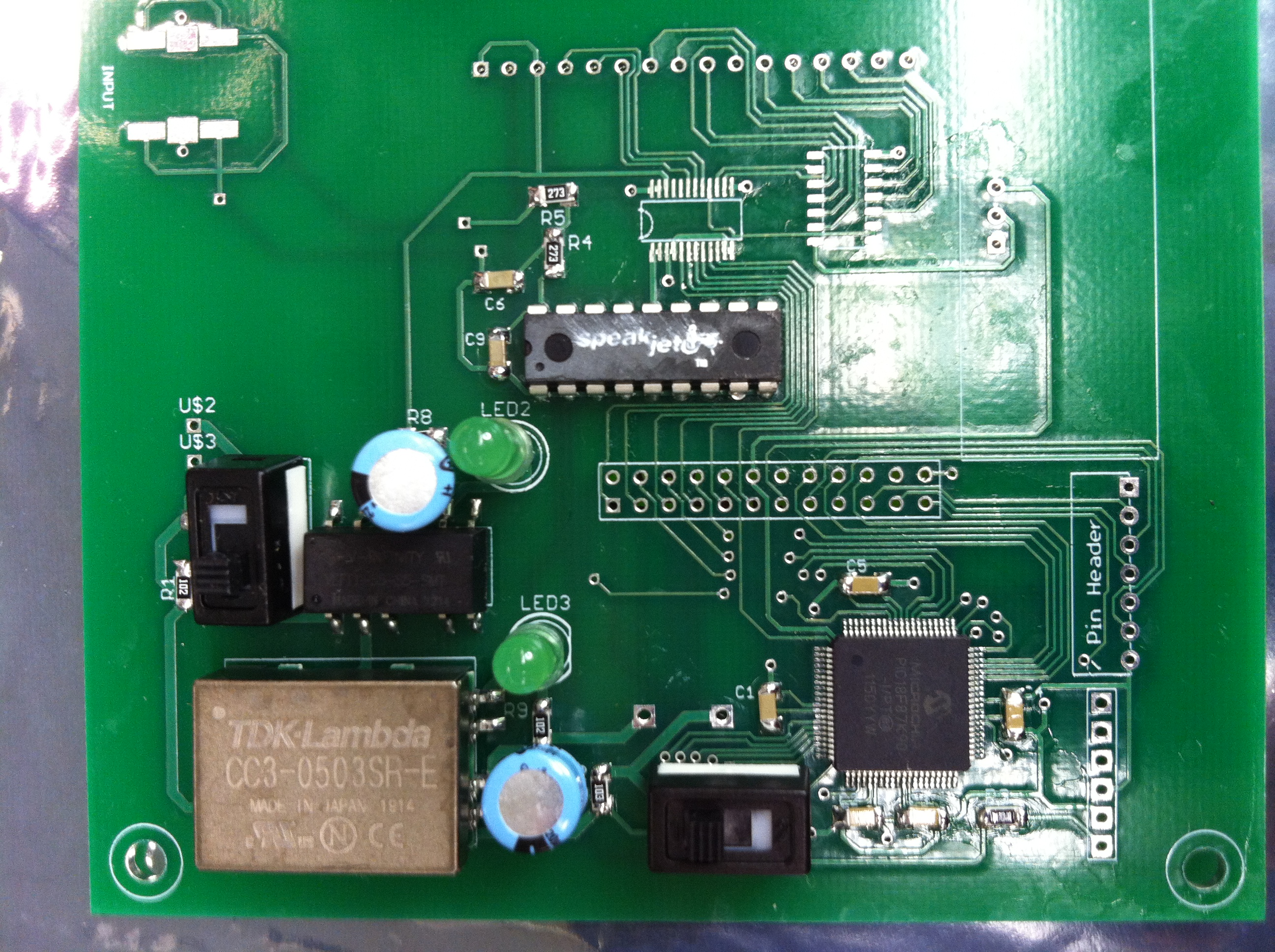 Carolyn Mcmicans Lab Notebook Make 5w Pll Fm Transmitter Lcd Printed Circuit Board Pcb By Yourself Attached Programming Switch To Base For Some Reason The Header Doesnt Fit Although It On Other And Had Same Footprint
