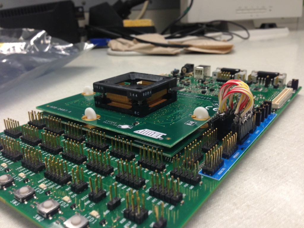 Yu Chen Lims Lab Notebook Circuit Board Soldered Headers On Stk600 Development