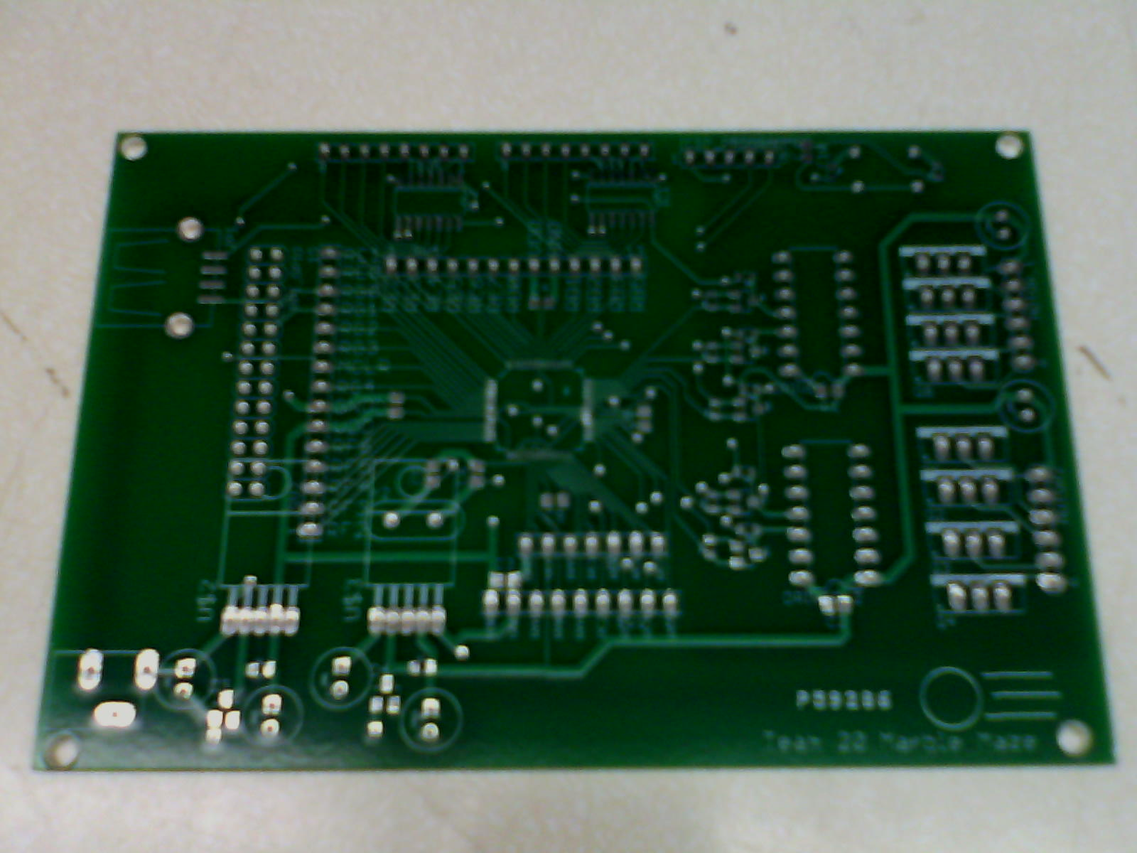 Justin Spencers Lab Notebook Holes Are Drilled In A Sample Circuit Board At Positions Required For Experimented With Physically Increasing The Size Of Pcb Header Pin Considered Drilling Out To Increse Their But Decided Try