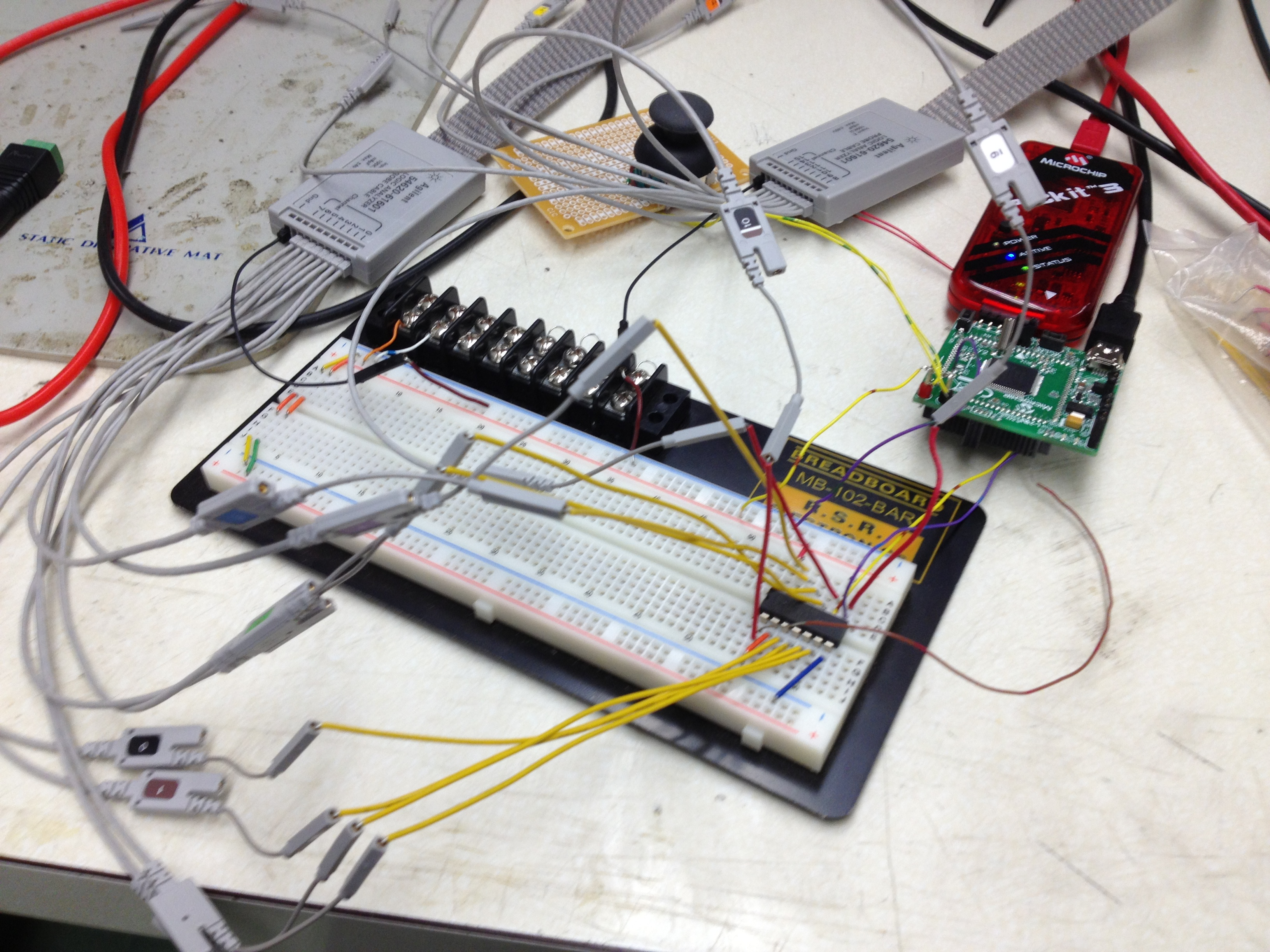 Jordan Wagners Lab Notebook Prototype Pcb Printed Circuit Board Breadboard Protoboard 1200 Points Shift Register And Oscilloscope Setup
