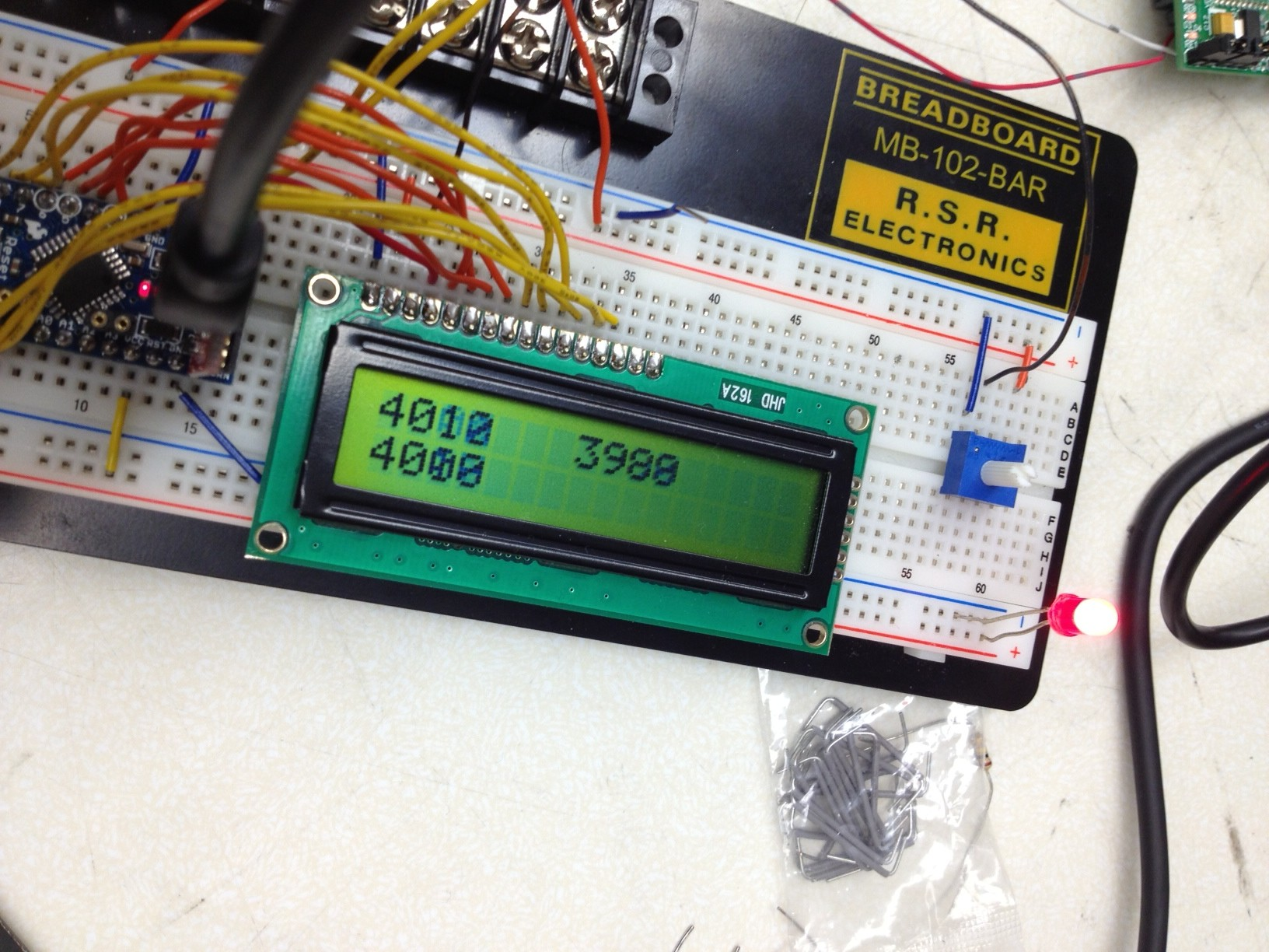 Jordan Wagners Lab Notebook Prototype Pcb Printed Circuit Board Breadboard Protoboard 1200 Points Arduino Controlled Lcd Controlling