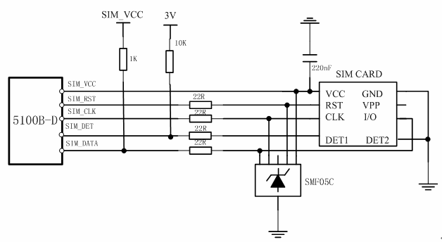 sim card circuit diagram
