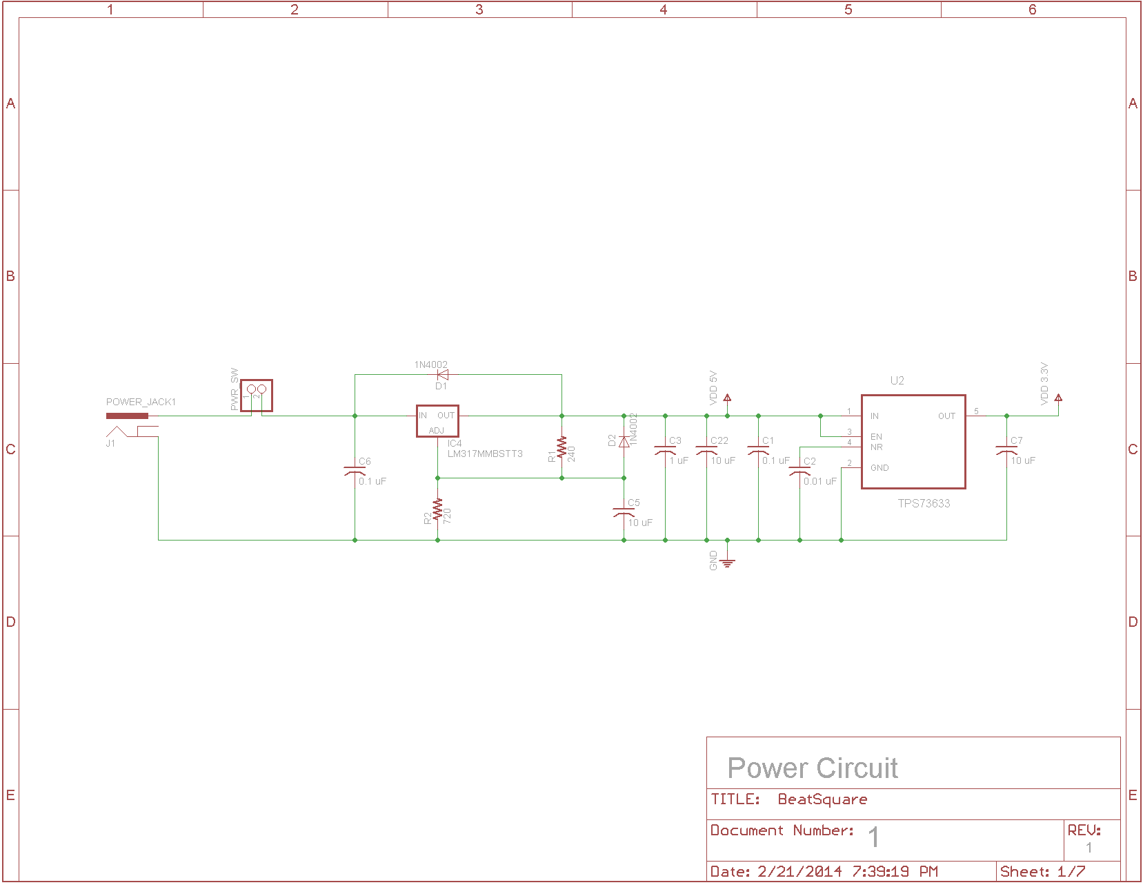 Lab Notebook Kevin Meyer Settling Lowpass Filter Schematic Diagram Circuit Wiring Diagrams All Drawings Done In Eagle 650 Editor
