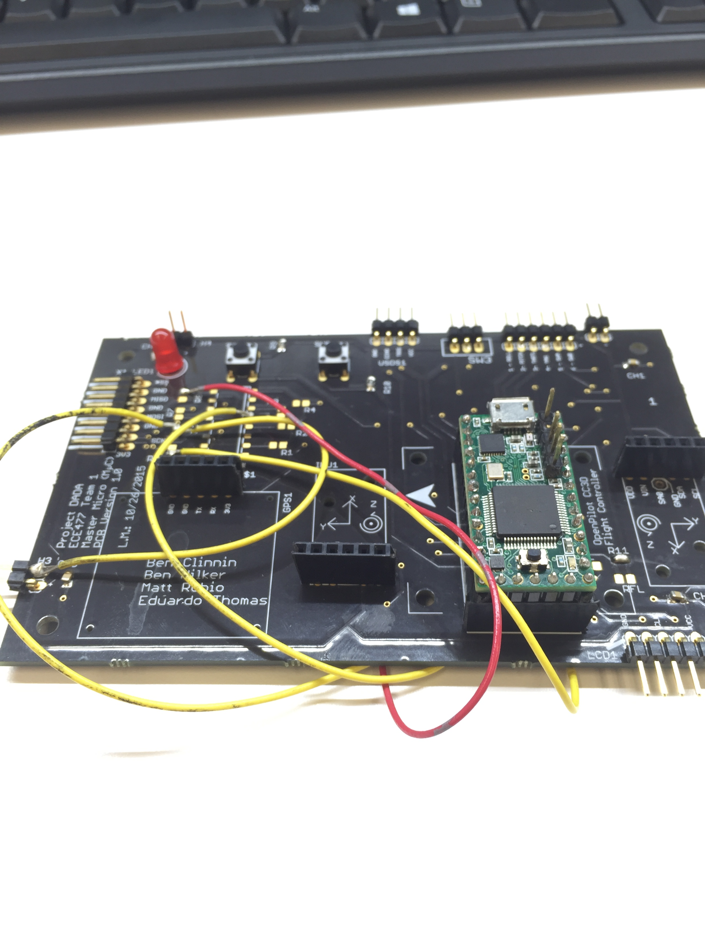 Ece477 Course Documents Cc3d Wiring Diagrams 3d Completed The Fly Of Master Quadcopter Board I Also Did Connection And Short Tests With Digital Multimeter