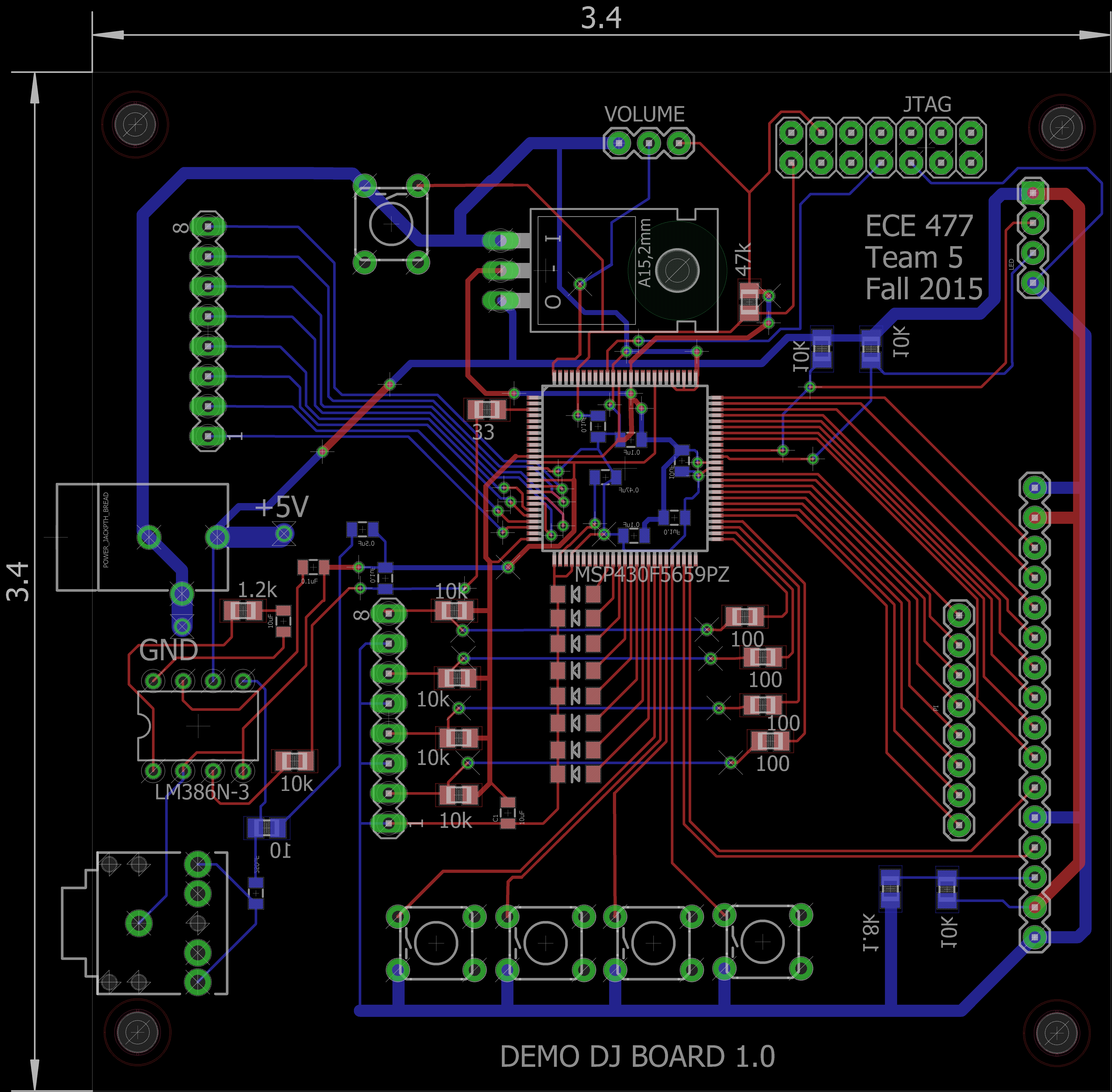 Ece477 Course Documents Electronic Circuit Componnent Data Lesson And Etc Usb Power Fig 93 Final Pcb Layout
