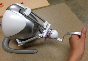 3D Joystick for Robotic Arm Control by Individuals with High Level