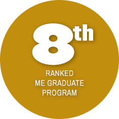 8th Ranked ME Graduate Program