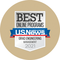 Best Online Grad Engineering Management Badge