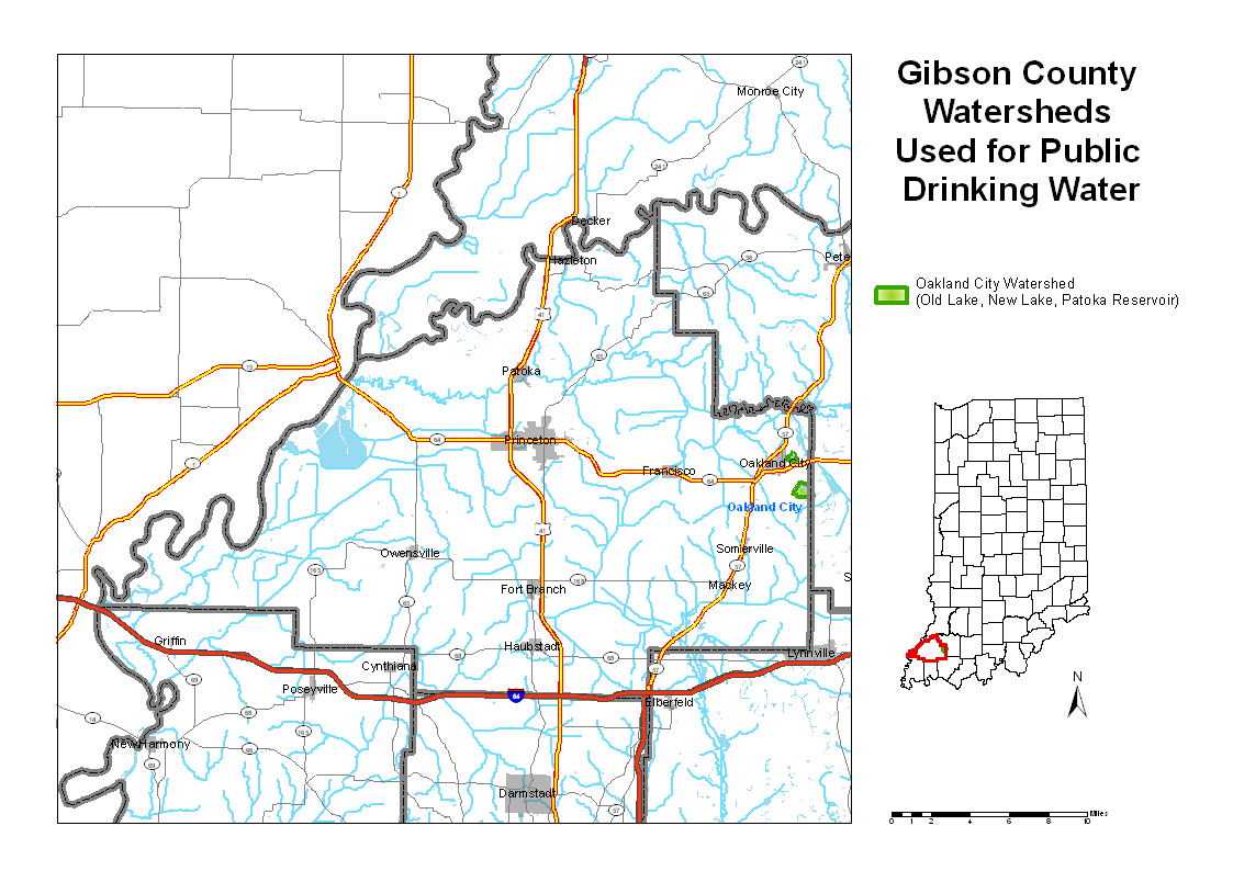 Gibson County Indiana Map.Gibson
