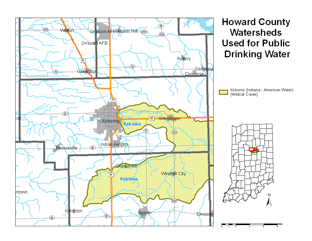 Howard County Indiana Map.Howard County Watershed Map