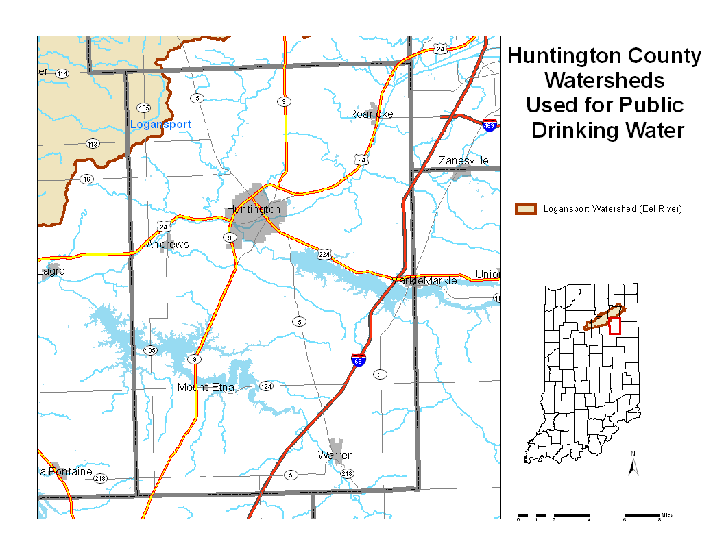 Huntington County Watershed Map