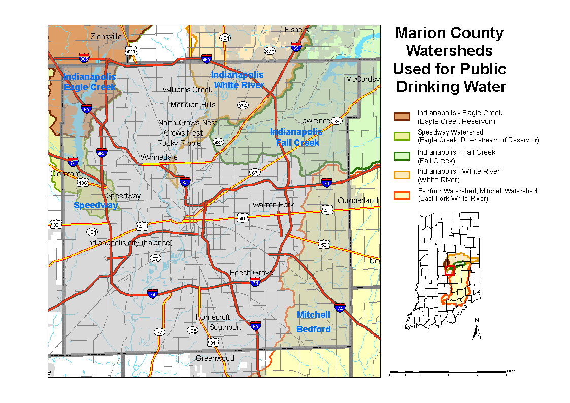 Marion County Watershed Map
