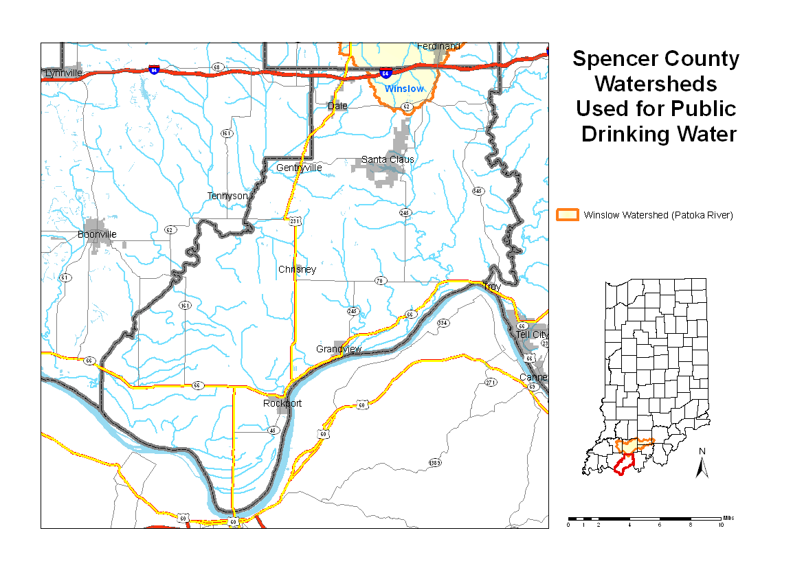 Spencer County Watershed Map