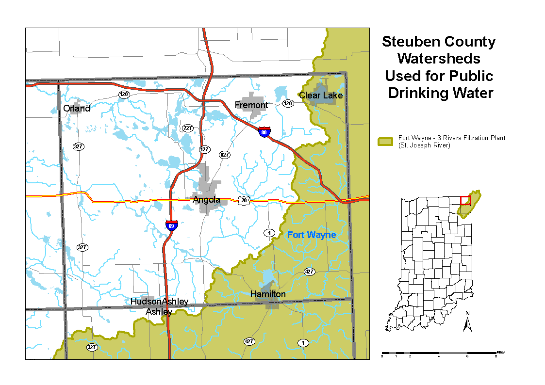 Clear Lake Indiana Map.Steuben County Watershed Map