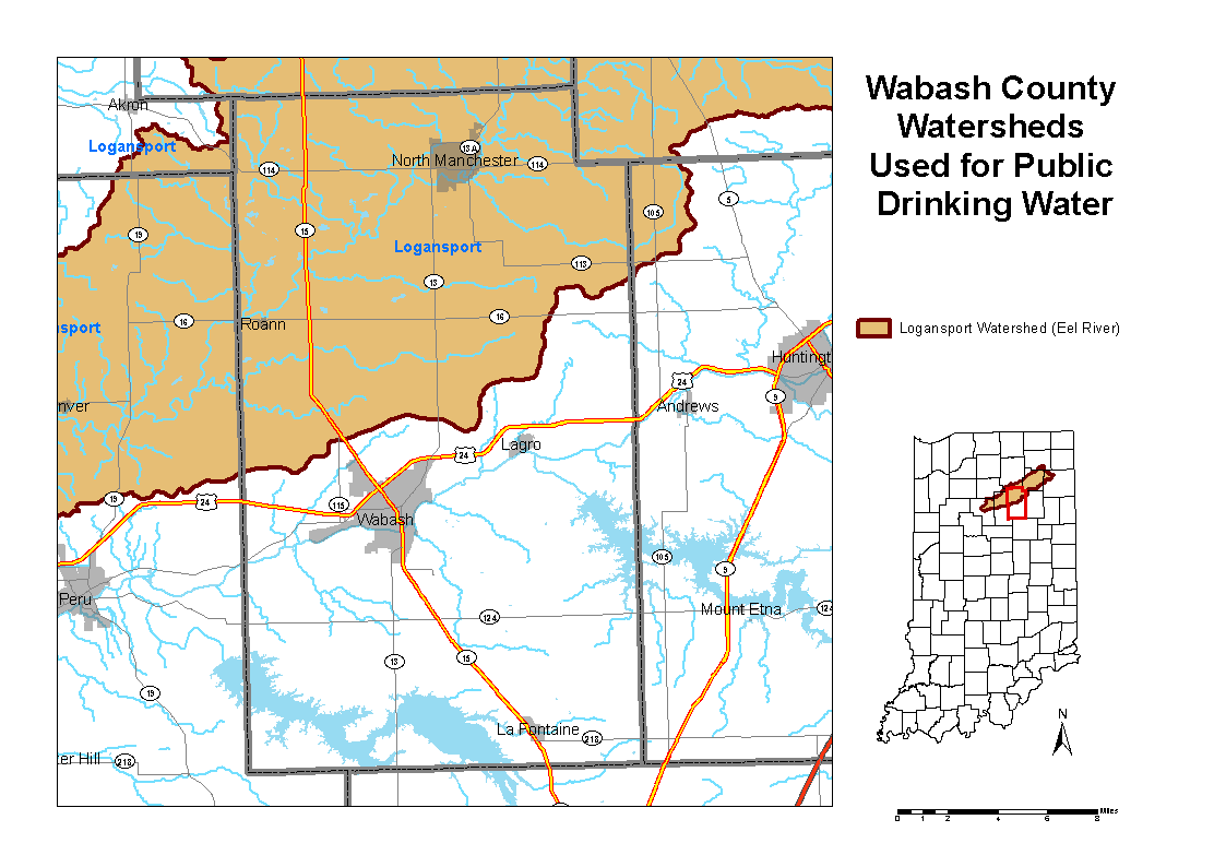 WAbash County Watershed Map